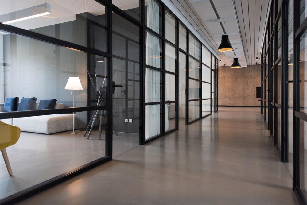 Büroräume und Flur